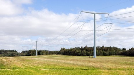 Artist's impression of a T-pylon