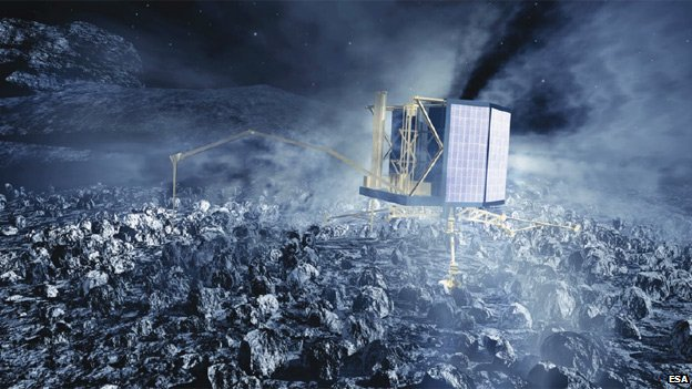 Artist's impression of Philae lander