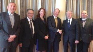 Richard Haass and Meghan O'Sullivan met representatives of the Royal Black Institution