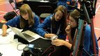 The School Reporters from Tendring Technology college work hard to edit their video report