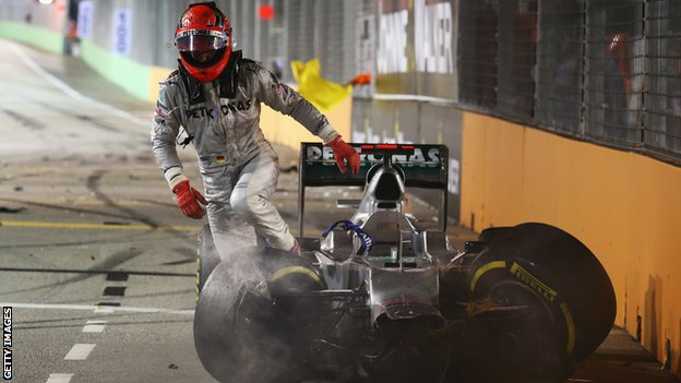 Michael Schumacher at the Singapore GP