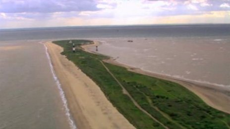Aerial view of Spurn Point