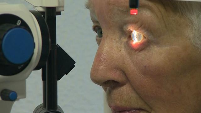 Man having an eye test