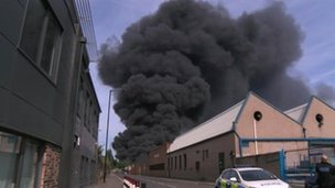 Attercliffe plastics factory fire