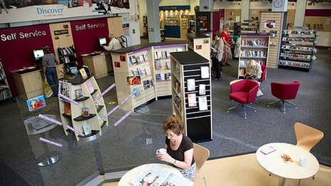 Interior view Northampton Central library