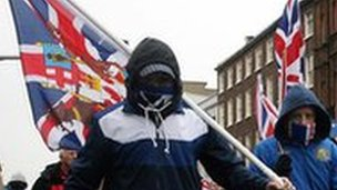 Protests over the union flag dispute began on 3 December