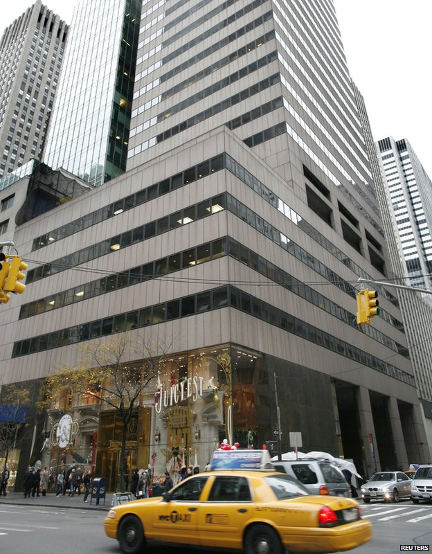 A building at 650 Fifth Avenue is seen in the midtown Manhattan section of New York, 13 November 13, 2009.