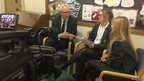 Sian and Ola interviewing Norman Lamb MP after the debate