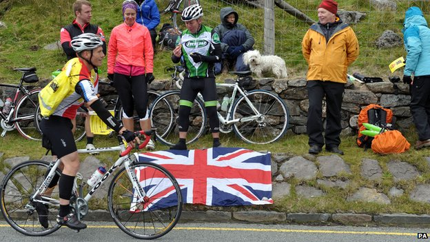 Cycling Fans at Pen y Pass