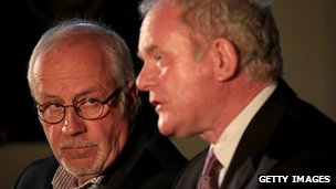 Colin Parry and Martin McGuinness