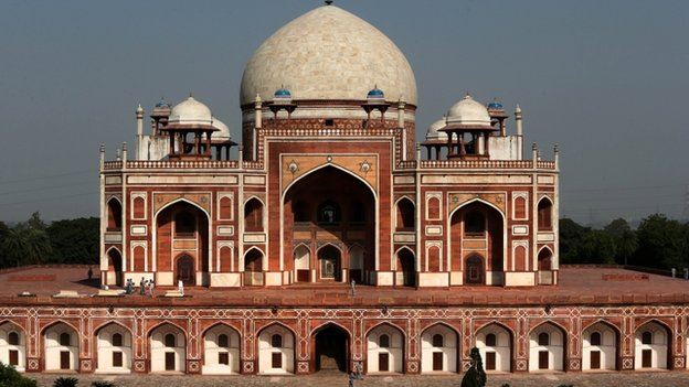 Humanyun's tomb in Delhi is a UNESCO World Heritage site