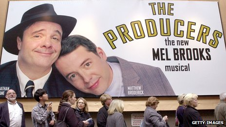 People queue up to see The Producers on Broadway