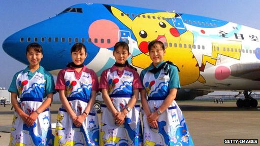 Japan's All Nippon Airways jet featuring Pokemon