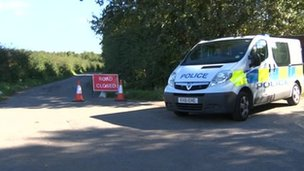 Scene of West Rainton murder