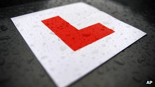 L plate for a learner driver