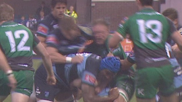Bradley Davies' shoulder charge