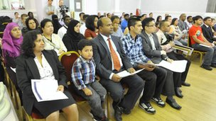Newham residents at citizenship ceremony
