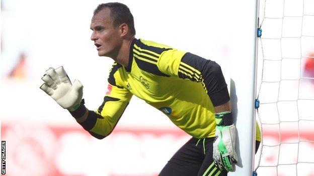 Ajax Cape Town goalkeeper Sean Roberts