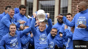 Wigan with FA Cup