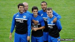 Wigan players