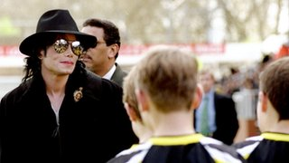 Michael Jackson visiting Craven Cottage