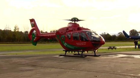 Wales' latest air ambulance