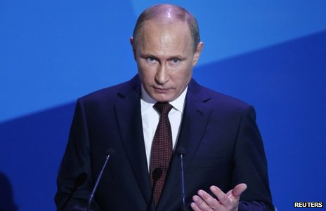 Russian President Vladimir Putin  speaking in Valdai, Russia, 19 September