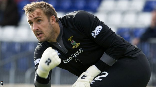 Inverness goalkeeper Dean Brill