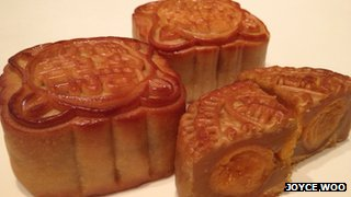 Moon cakes are traditional festive delicacy in China