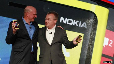Steve Ballmer and Stephen Elop