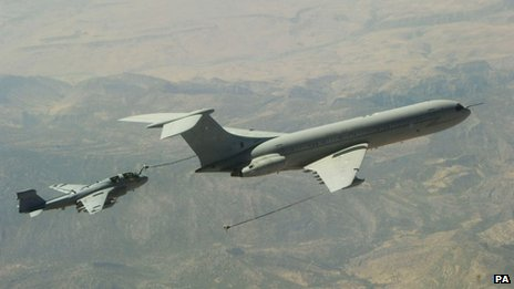 VC10 during air-to-air refuelling