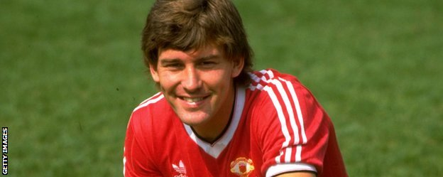 Manchester United captain Bryan Robson was the most expensive player in Division One in October 1986