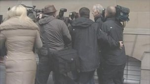 Bill Walker arrives at court