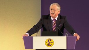 Roger Helmer addressing the UKIP conference