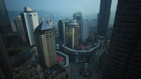 China's south-west metropolis of Chongqing in China