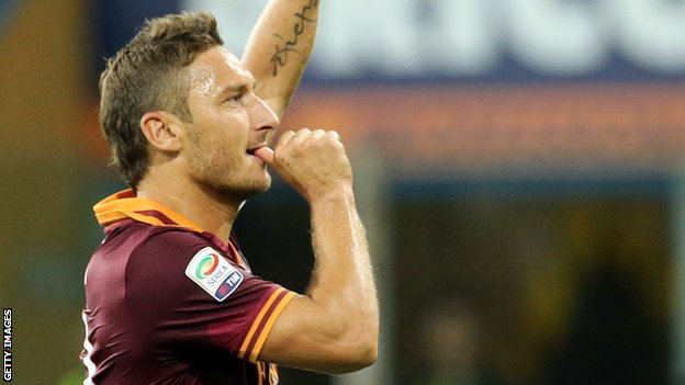 Roma captain Francesco Totti