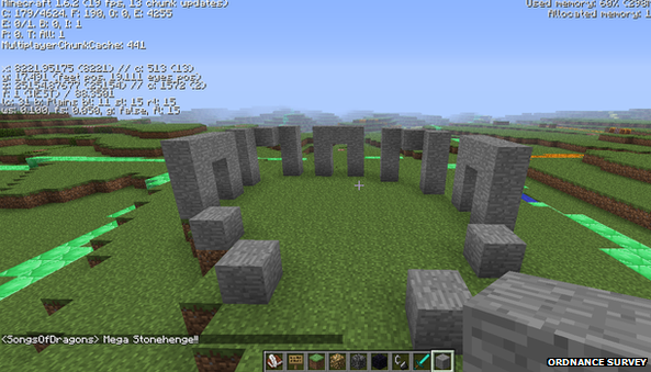 Minecraft version of Stonehenge
