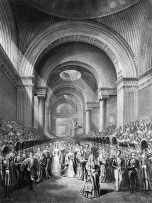 Queen Victoria at state opening.
