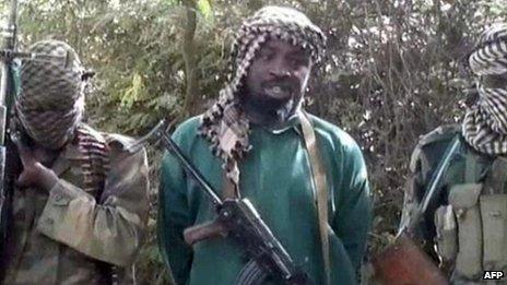 Boko Haram leader Abubakar Shekau (file photo)