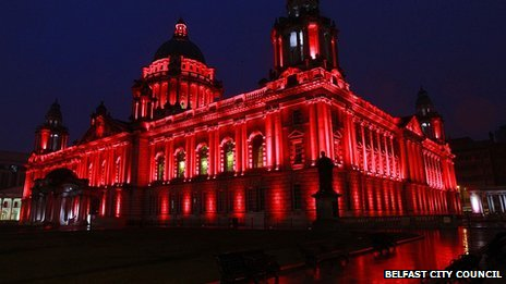 The Royal British Legion requested city hall be lit red for the launch of the Poppy Appeal