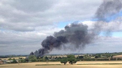 Fire at JBJ Business Park near Northampton