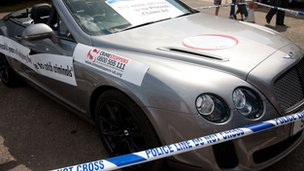 Bentley seized from Dawn Simon