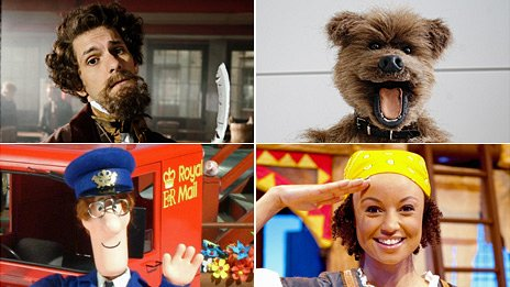 Mat Baynton as Charles Dickens, Hacker the Dog, Postman Pat and Gem from Swashbuckle