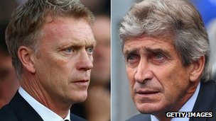 David Moyes and Manuel Pellegrini