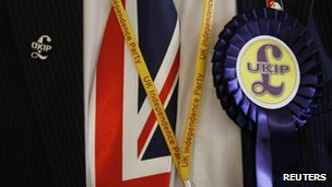 UKIP activist wearing union jack tie