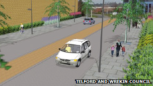 Artists impression of Telford's box road