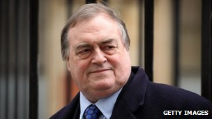 Former Deputy Prime Minister John Prescott arrives to give evidence at the Leveson inquiry on 27 February  2012 in London, England.