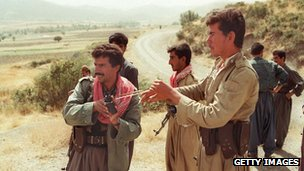 Kurdish fighters