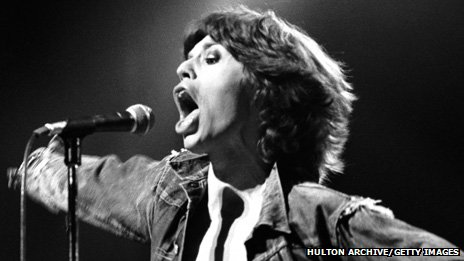 Mick Jagger performing in 1973 - but not in Pembroke