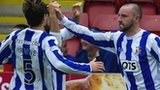 Kilmarnock striker Kris Boyd celebrates scoring his team's leveller